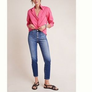 AG x Anthropologie Vintage Stevie Button-Up Jeans